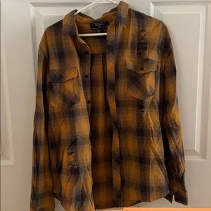 Forever 21 distressed flannel